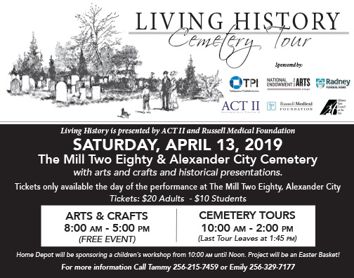 Living History Cemetery Tour (April 13)